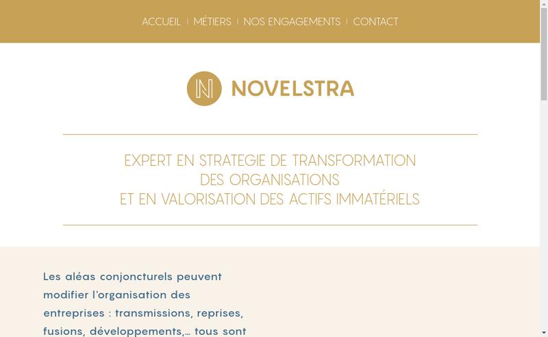 Capture d'écran du site de Novelstra