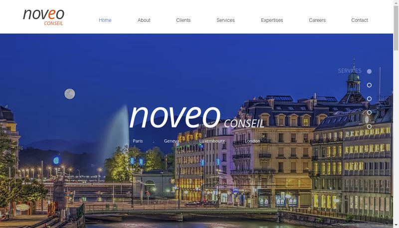 Capture d'écran du site de NOVEO Conseil
