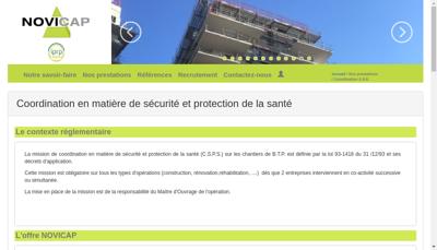 Capture d'écran du site de Novicap