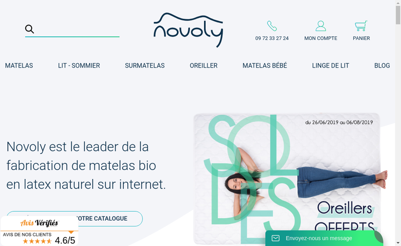Capture d'écran du site de Coparnet