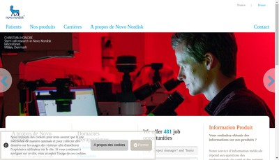 Site internet de Novo Nordisk