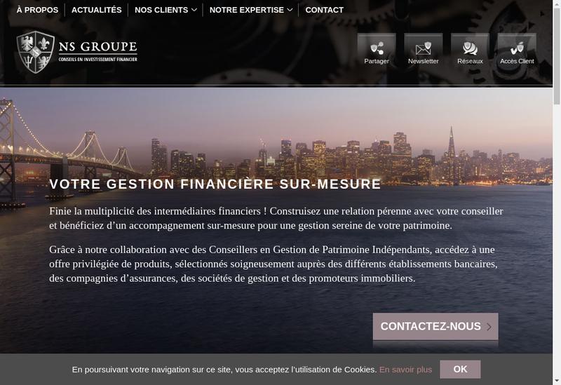Capture d'écran du site de Franconseil