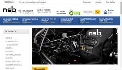 Site internet de Nsb Concept