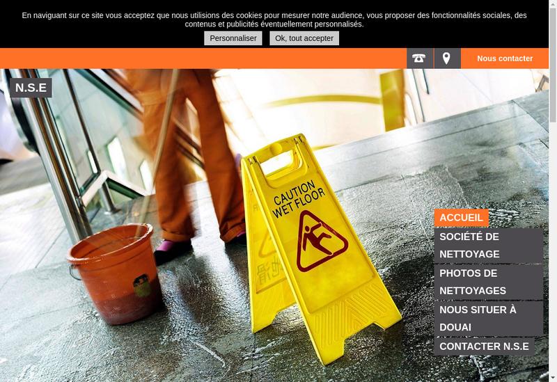 Capture d'écran du site de SARL Nettoyage Service et Entretien