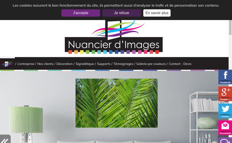 Capture d'écran du site de Nuancier d'Images