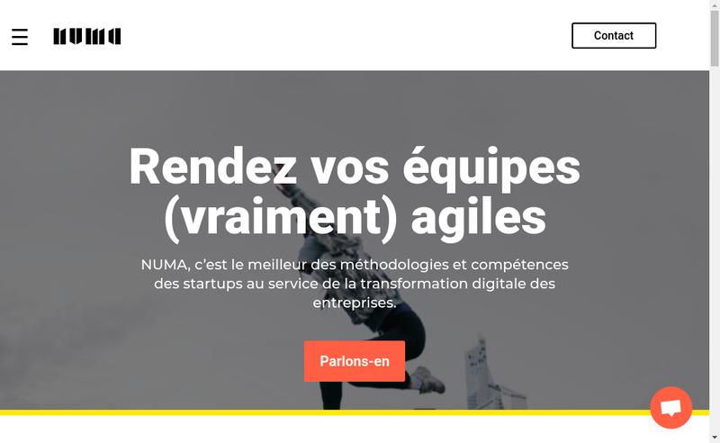 Capture d'écran du site de Numa