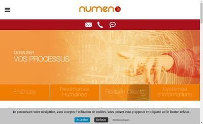 Site internet de Numen