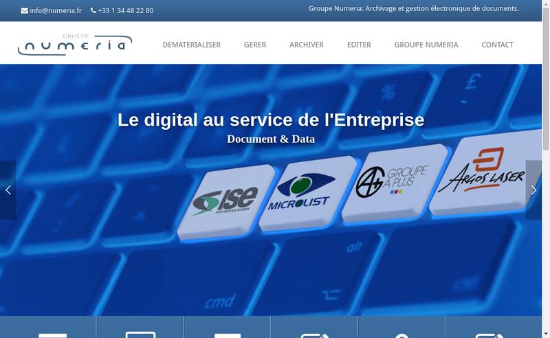 Capture d'écran du site de ISE