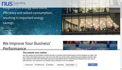Site internet de Nus Cosulting Group