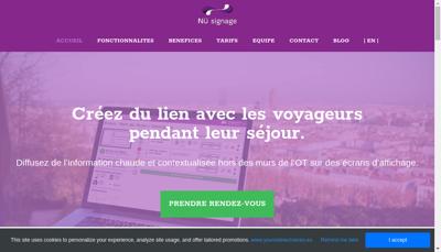 Capture d'écran du site de Nu Advertising