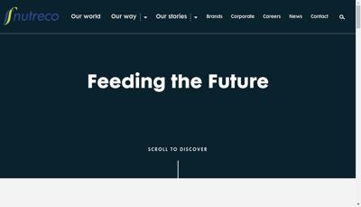 Capture d'écran du site de Nutreco France SA