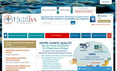 Site internet de Nutrilys