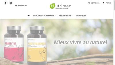 Capture d'écran du site de Laboratoires Nutrimea