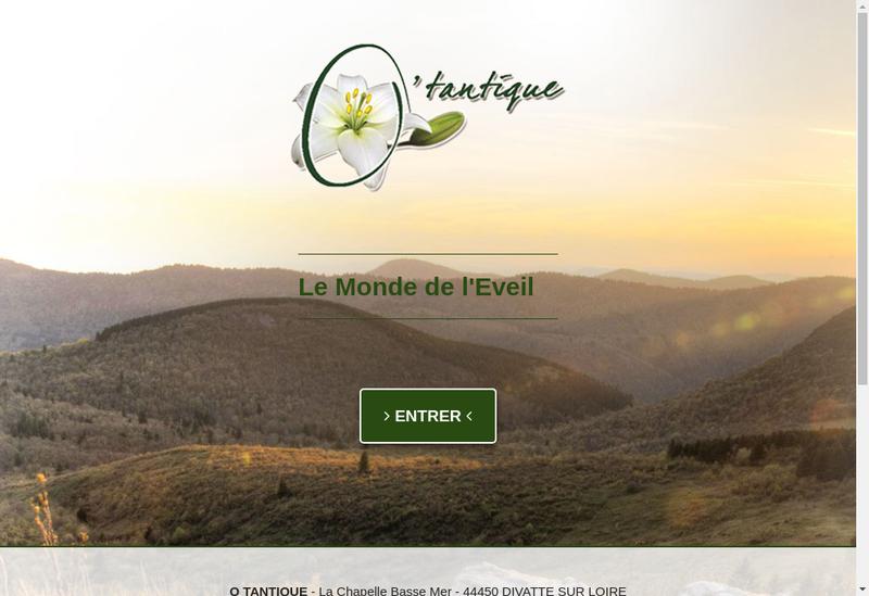 Capture d'écran du site de O Tantique