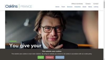 Site internet de Oaklins Aelios