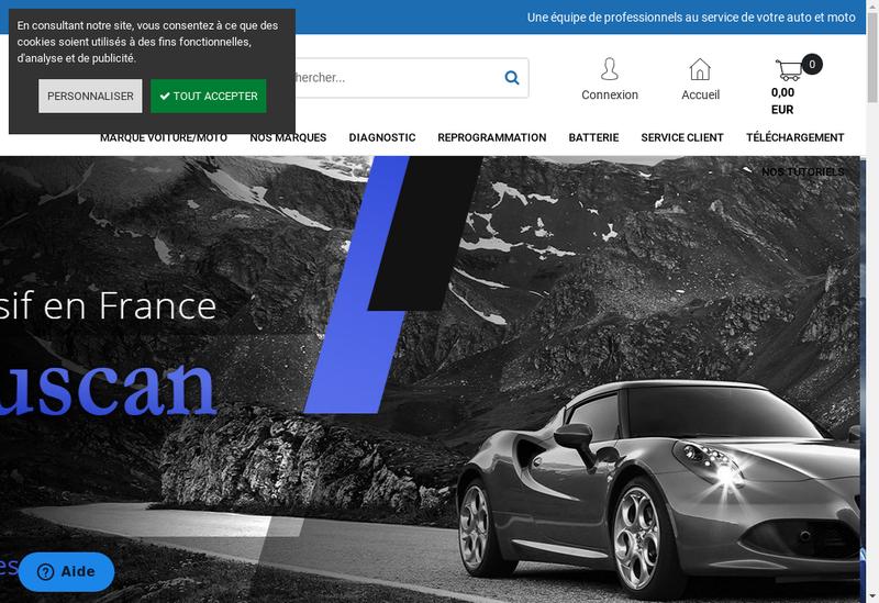 Capture d'écran du site de Obd Auto