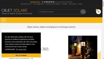 Site internet de Objet Solaire