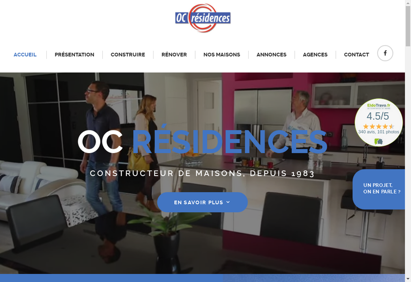 Capture d'écran du site de Oc Residences