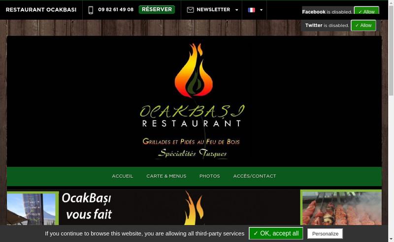 Capture d'écran du site de Ocakbasi