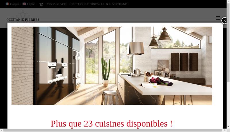Capture d'écran du site de Occitanie Pierres