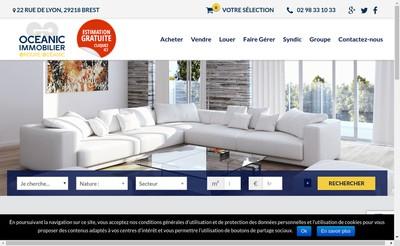 Site internet de Agence Centrale Immobiliere