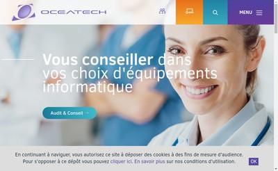 Site internet de Oceatech Equipement