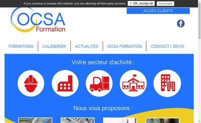Site internet de Ocsa Formation
