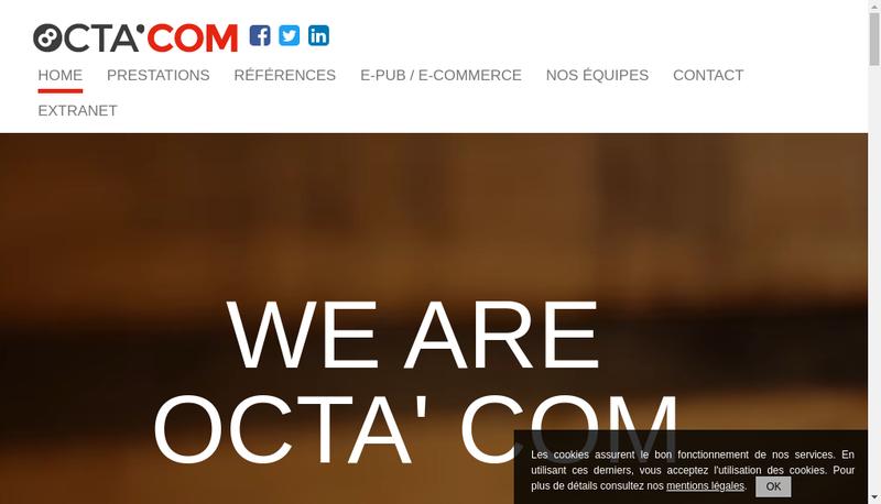 Capture d'écran du site de Octa Com