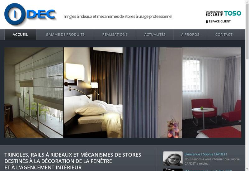 Capture d'écran du site de ODEC