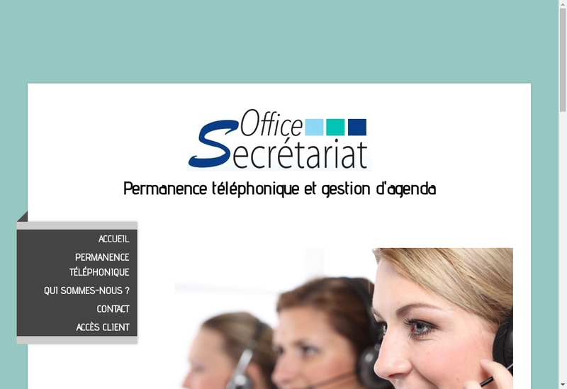 Capture d'écran du site de Office Secretariat