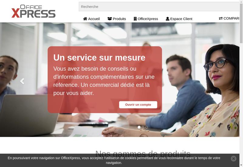 Capture d'écran du site de Officexpress.fr