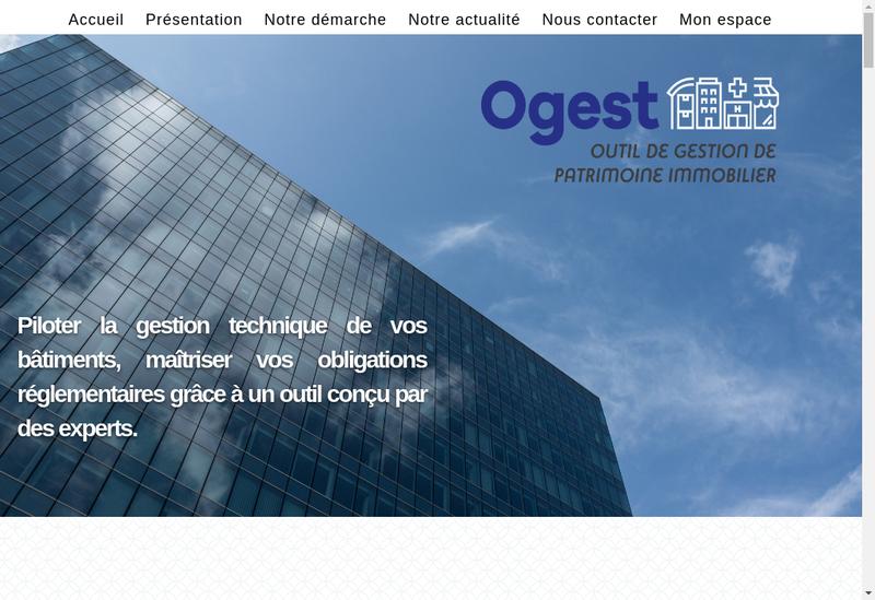 Capture d'écran du site de Ogest
