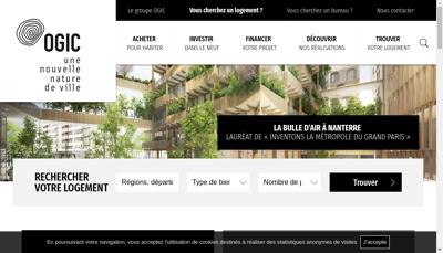 Capture d'écran du site de Financiere Ogic