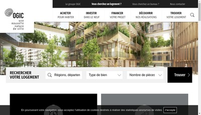 Site internet de Financiere Ogic