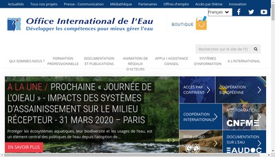 Site internet de Office International de l'Eau