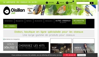 Site internet de Oiseaux - Gardif Oisillon