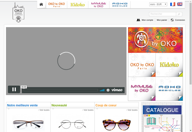 Capture d'écran du site de OK O