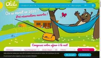 Site internet de Camping la Breteche