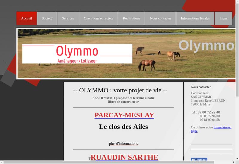 Capture d'écran du site de Olymmo