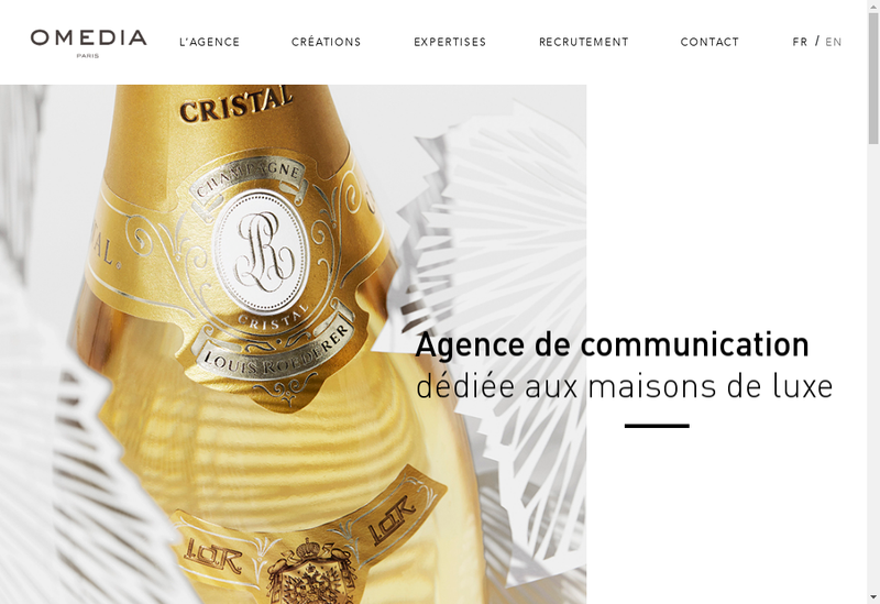 Capture d'écran du site de Omedia
