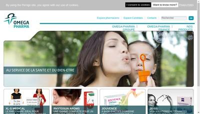 Site internet de Laboratoires Omega Pharma France