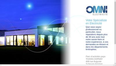 Site internet de Omni Electricite