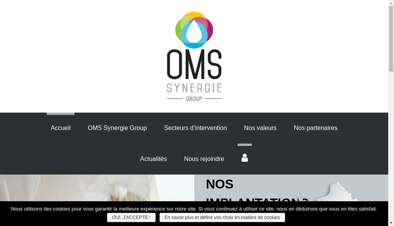 Capture d'écran du site de Oms Synergie Est