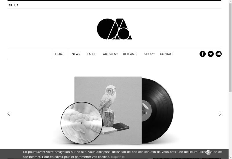 Capture d'écran du site de On And On Music