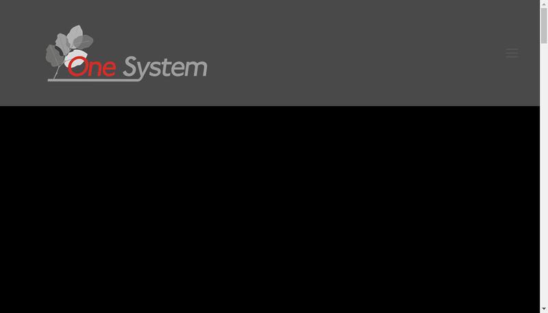 Capture d'écran du site de One System