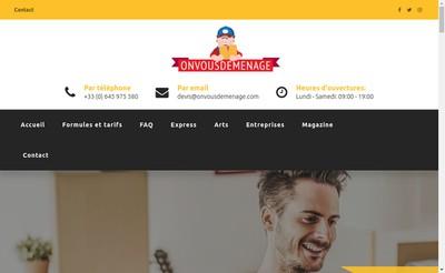 Site internet de On Vous Demenage