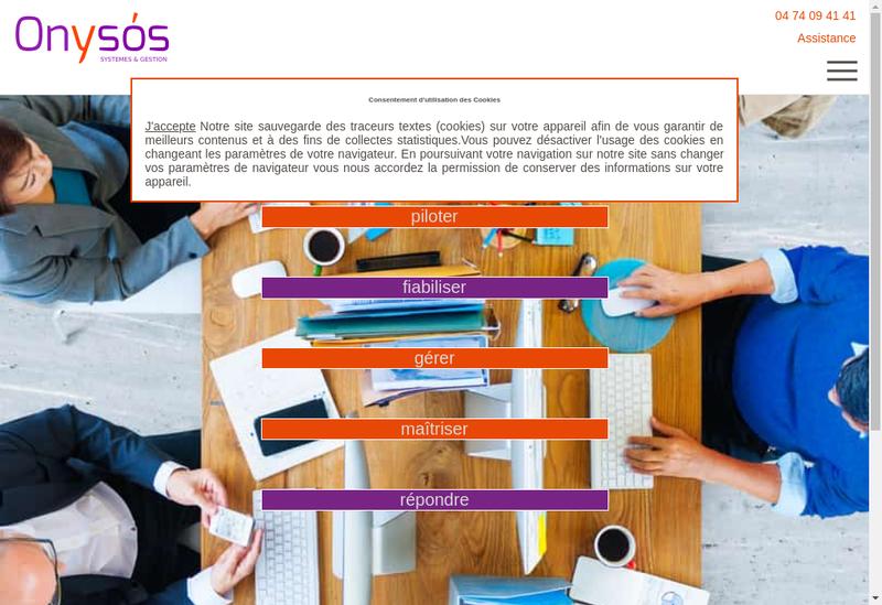 Capture d'écran du site de Di Systemes