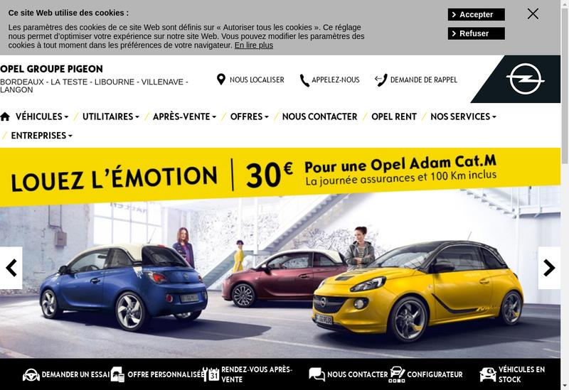 Capture d'écran du site de Auto Villenave Information