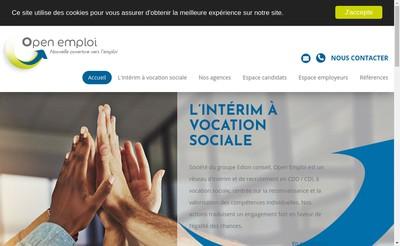 Site internet de Open Emploi