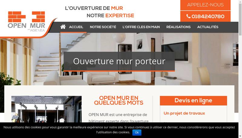 Capture d'écran du site de Agexea